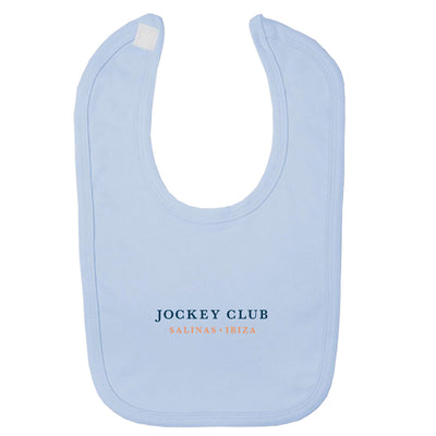 Jockey Club Salinas Ibiza Blue Text Velcro Bib-Jockey Club Salinas Ibiza Store