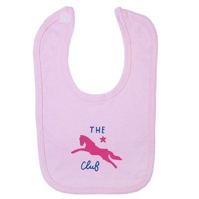 Jockey Club The Club Pink Logo Velcro Bib-Jockey Club Salinas Ibiza Store