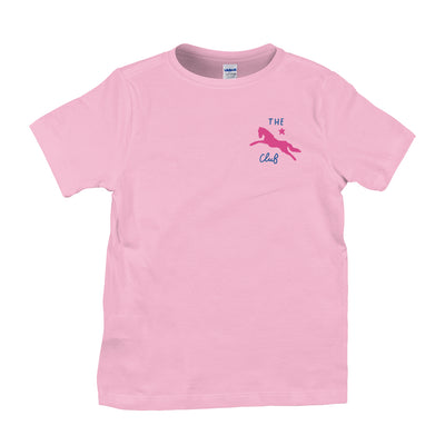 Jockey Club The Club Pink Logo Kid's T-Shirt-Jockey Club Salinas Ibiza Store