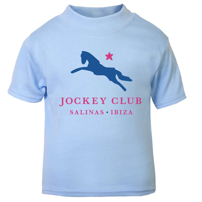 Jockey Club Salinas Ibiza Blue And Red Logo Baby T-Shirt-Jockey Club Salinas Ibiza Store