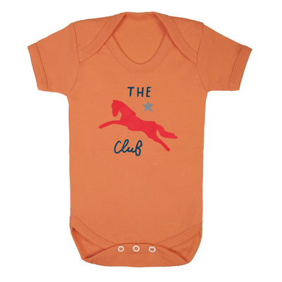 Jockey Club The Club Red Logo Short Sleeve Babygrow-Jockey Club Salinas Ibiza Store
