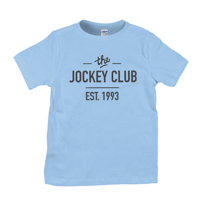 Jockey Club The Jockey Club Est 1993 Black Text Kid's T-Shirt-Jockey Club Salinas Ibiza Store