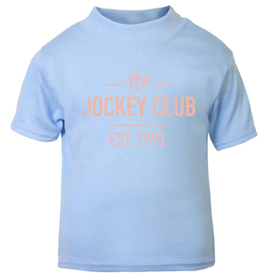 Jockey Club The Jockey Club Est 1993 Pink Text Baby T-Shirt-Jockey Club Salinas Ibiza Store