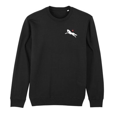 Jockey Club White And Red Logo And Badge Front And Back Print Sweatshirt-Jockey Club Salinas Ibiza Store
