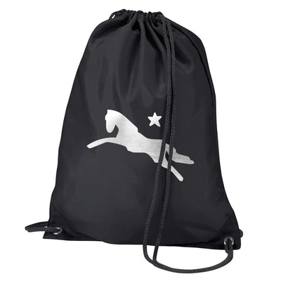 Jockey Club Silver Metallic Logo Water Resistant Sports Gymsac Drawstring Day Bag-Jockey Club Salinas Ibiza Store