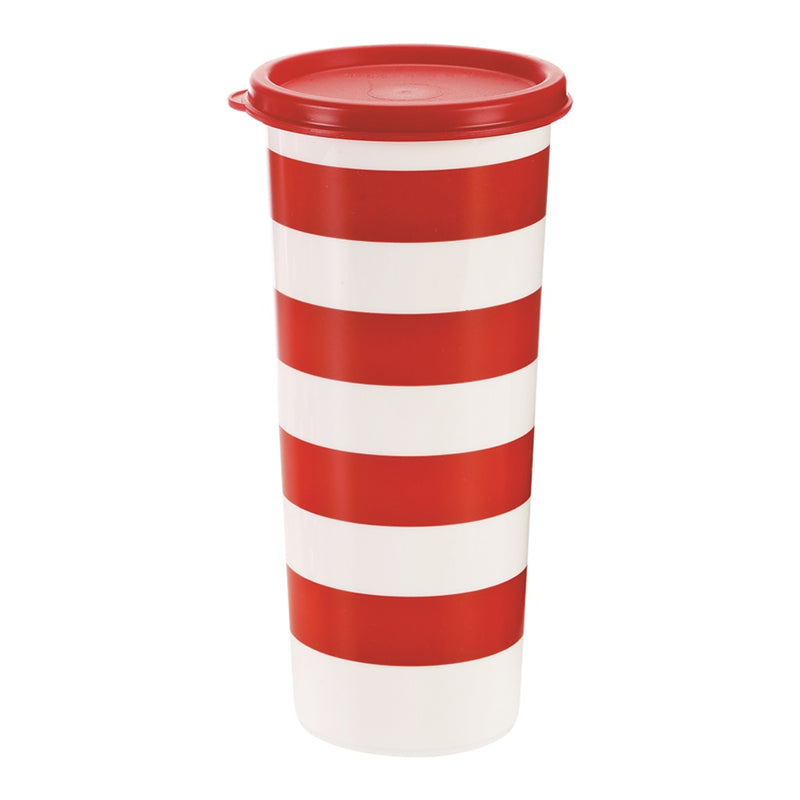 Vaso Rojo y Blanco 470 ml