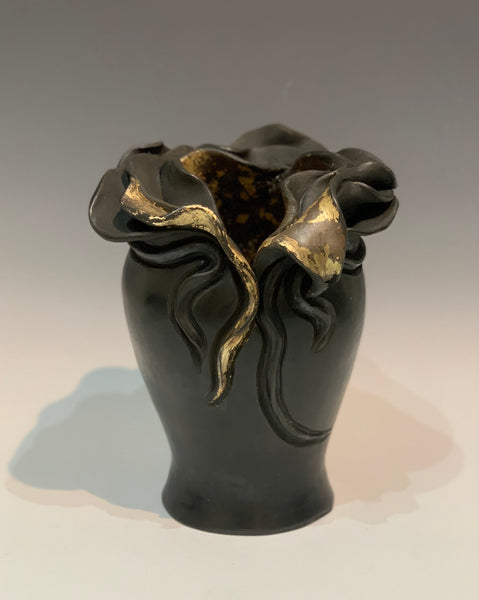 Where the Light Gets In - Earthenware vessel with mixed media