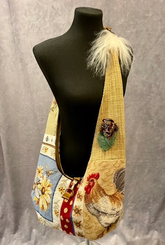 Adjustable Vintage Tapestry Crossbody Handbag - 4