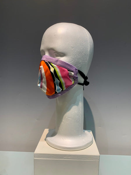Multi-colored Silk Reversible Face Mask