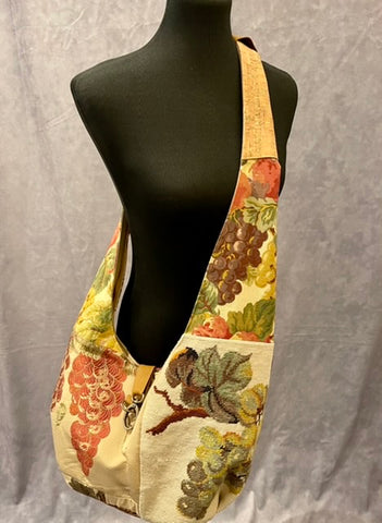 Vintage Tapestry Crossbody Handbag with Adjustable Strap - 2