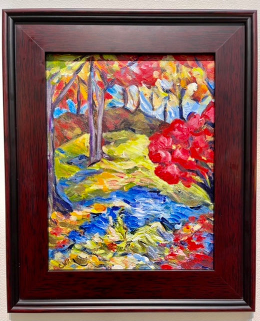 """Autumn Blaze"" Original Acrylic Framed Painting on Canvas"