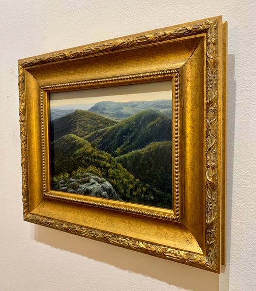 """Evening View from Devils Courthouse"" Original Framed Oil Painting on Board"