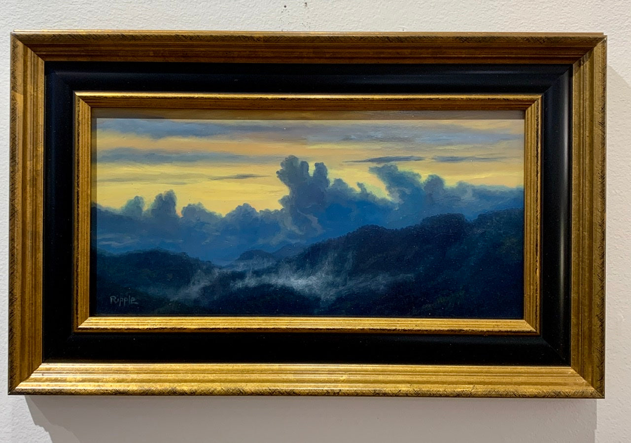 """Passing Storm at Sunset over the Blue Ridge"" Original Framed Oil Painting"