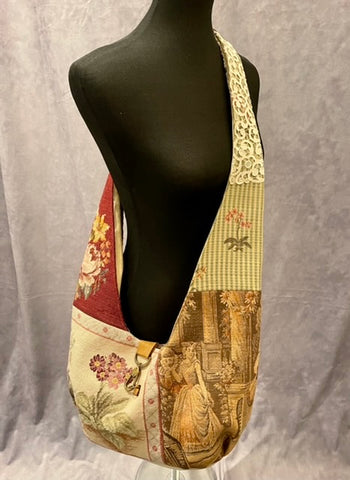 Vintage Tapestry Crossbody Handbag - 3