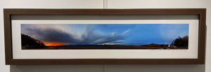 """The Setting of the Sun and Rise of the Moon"" Panoramic  Copper Framed Photography"