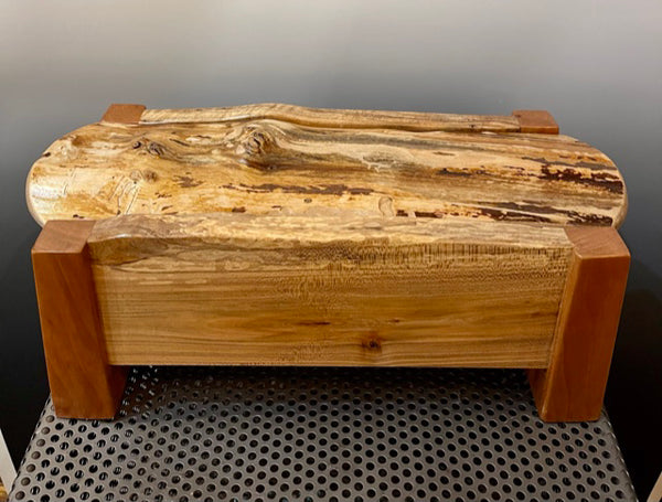 Spalted Maple and Cherry Jewelry Box BGB007