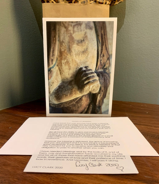 """HANDS OF BLESSING"" Watercolor Art Card with Blog Post"