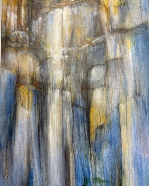 """Ice Melt"" Original Acrylic and Graphite Painting on Canvas"