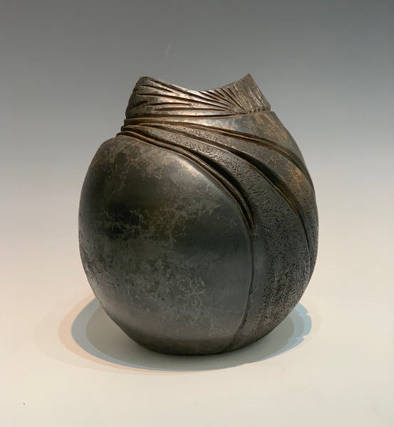 The Shadow of Light Earthenware Ceramic Vessel with Horse Hair