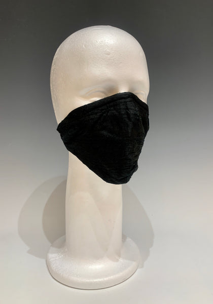 Multicolored Cotton and Black Reversible Face Mask