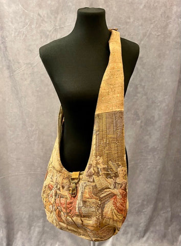 Vintage Tapestry Crossbody Handbag - 1