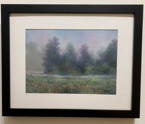 """Foggy Mountain Morning"" Original Framed Pastel Painting"