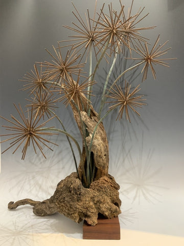 """When the Forest Comes Alive"" Found Wood/Mixed Media Sculpture"