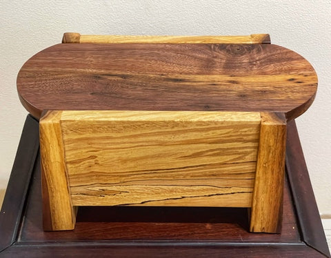 Walnut and Spalted sycamore Large Jewelry Box BGB009