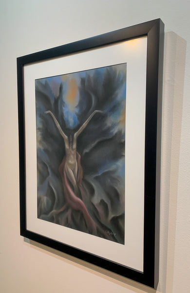 The Birth of a Faerie - Original framed Pastel Painting