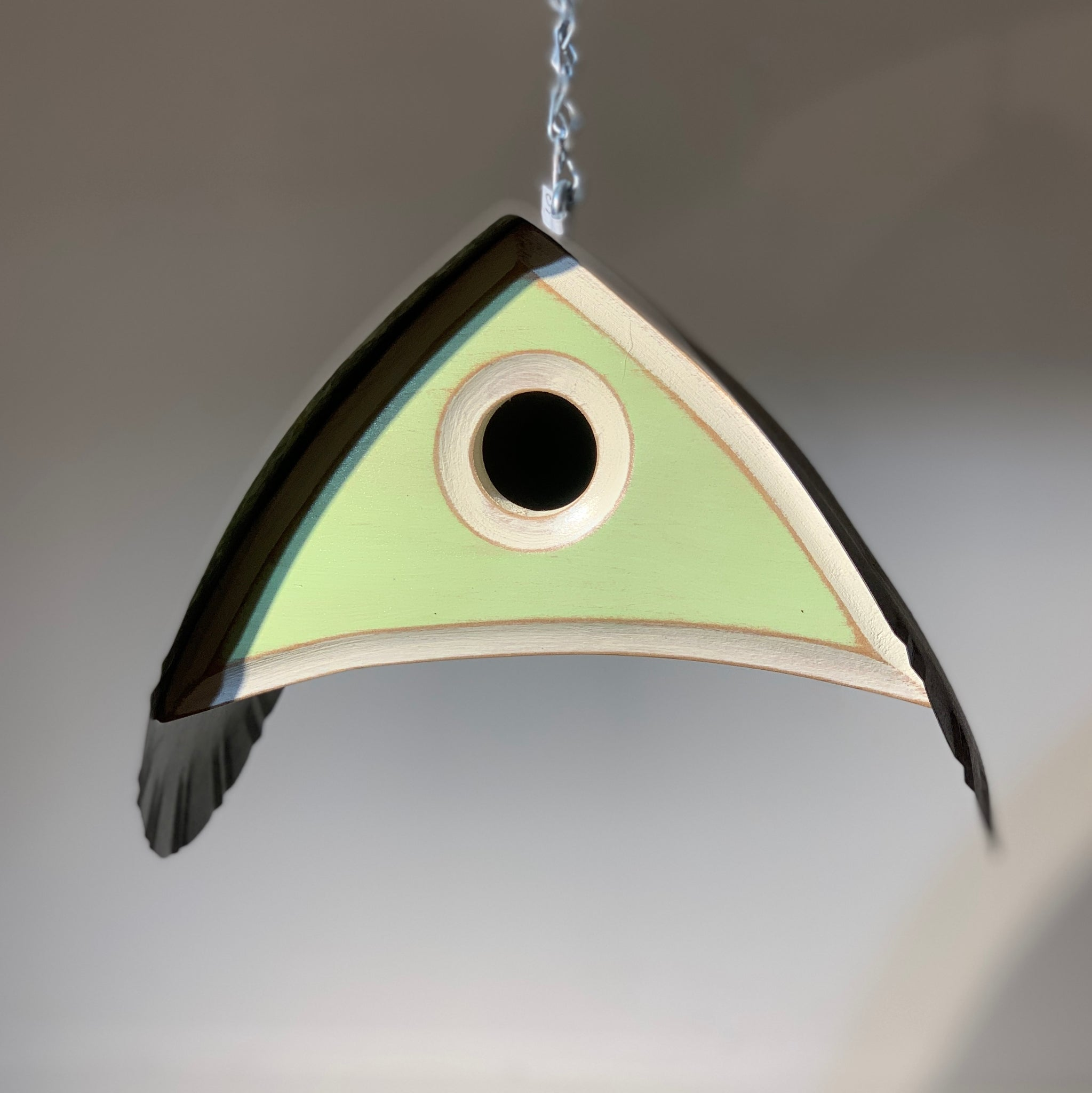 Barn Owl Birdhouse in Green