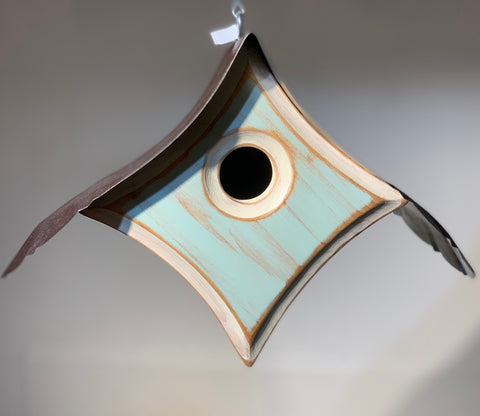 """Peep"" Birdhouse in Haint Blue"