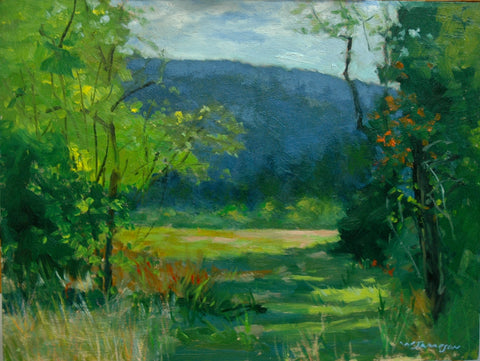 """SPRINGER MOUNTAIN MEADOW"" Original Oil Painting"