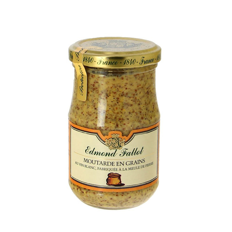 Moutarde en grains au vin blanc - 205g