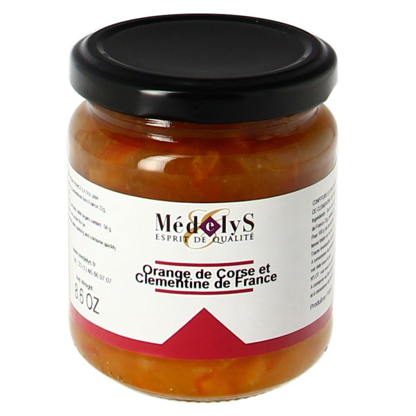 Confiture extra d'orange de Corse et de clémentine de France - 245g