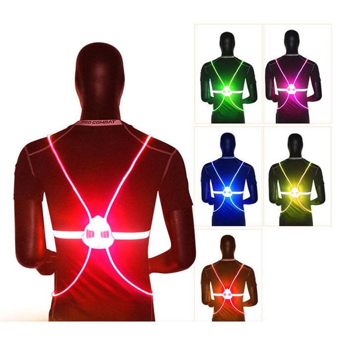 LED Flash Driving Vest Safety Bike Vest