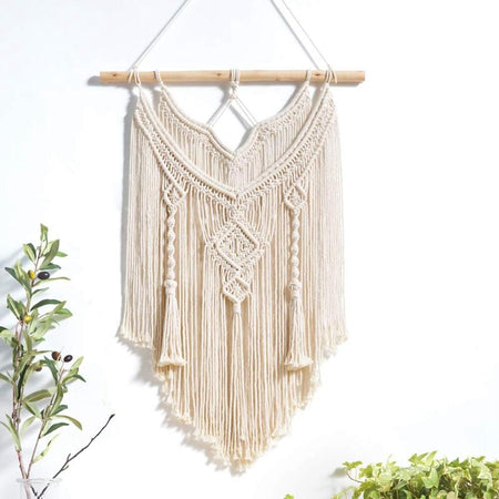 Natural Macrame Wall Hanging Tapestry