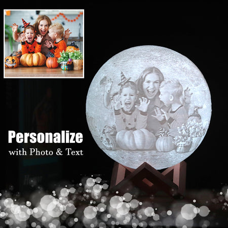 Customized 3D Photo/Text  Printing Moon Lamp