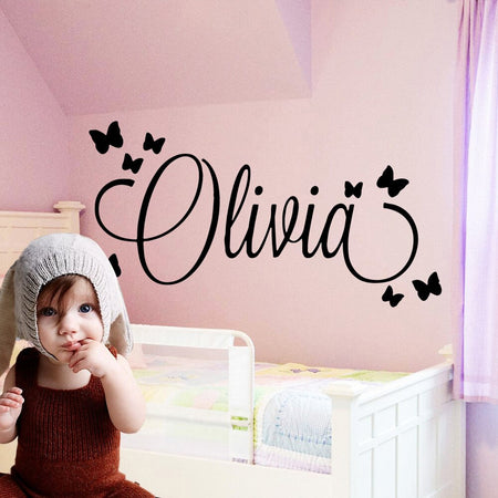 Personalized Name Butterfly Wall Sticker