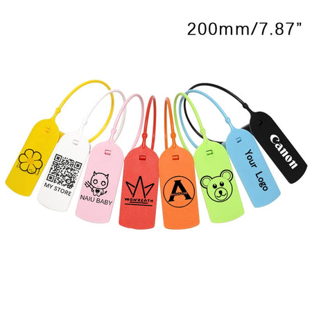100 Pcs  Hang Tags [Custom with your Brand Logo]