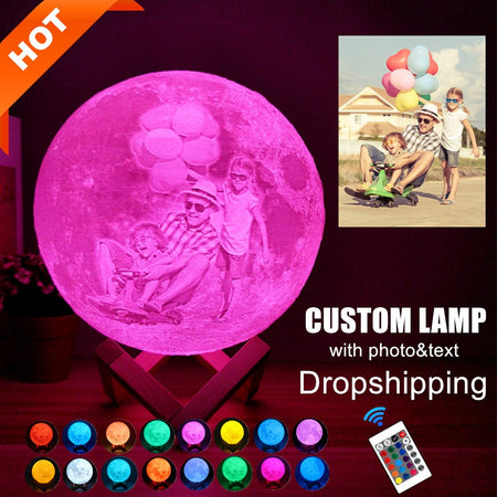 Personalized 3D Print Moon Lamp for kids