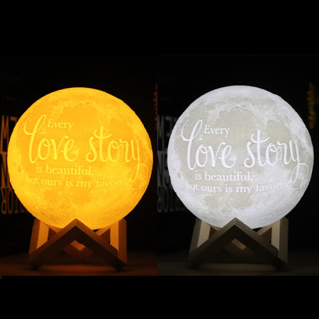 3D Printing Moon Night Light Lamp