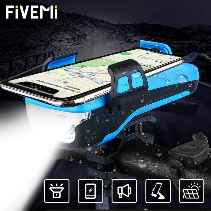 5 IN 1 Multifunction Bicycle Light Phone Charging Holder Accessories