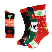 Load image into Gallery viewer, Parquet 3-Pair Ladies Christmas Holidays Crew Socks