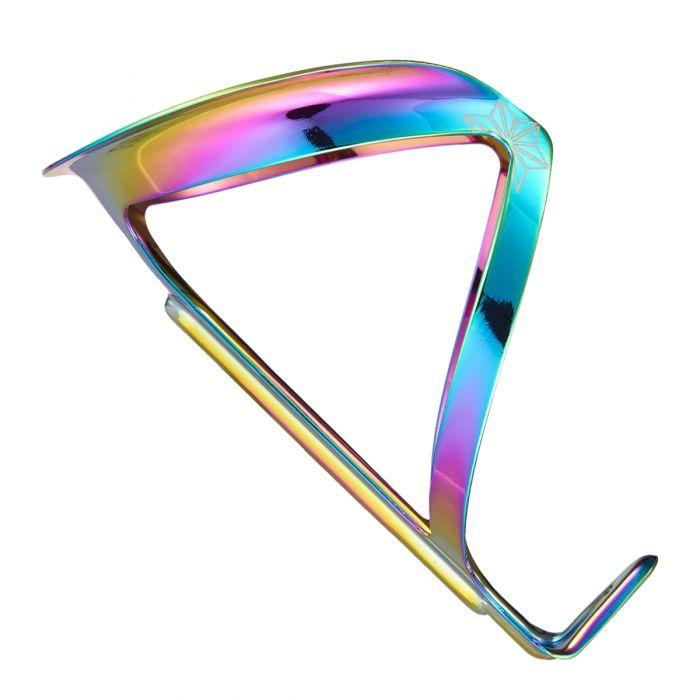 Supacaz Fly Road Bike or MTB Bottle Cage Ano Oil Slick - love-cycling-tech