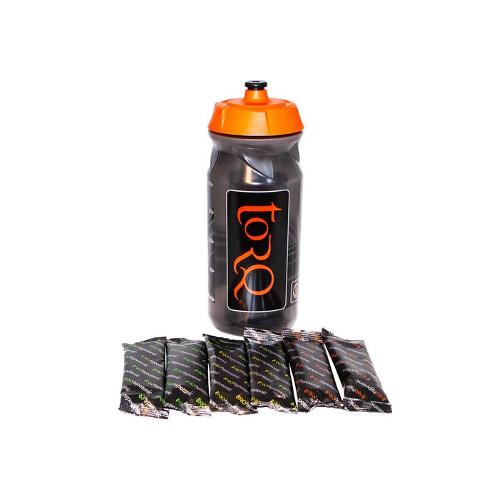 Torq Hydration Bottle Pack - Bottle with 6 x Assorted Gels - love-cycling-tech