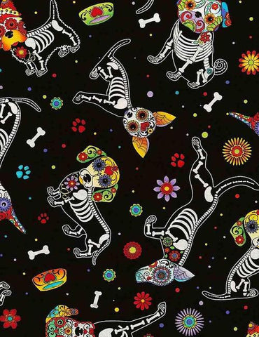 Day of the Dead Dog Skeletons