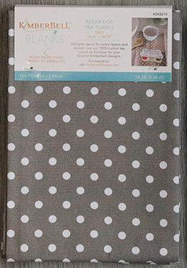 Kimberbell Polka Dot Towel - Grey