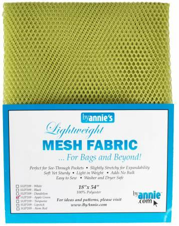 "Mesh- Light Weight Apple Green 18"" X 54"""