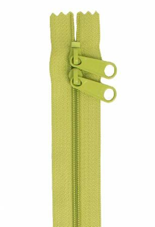 "Zippers Handbag, 40"" Double Slide Apple Green"