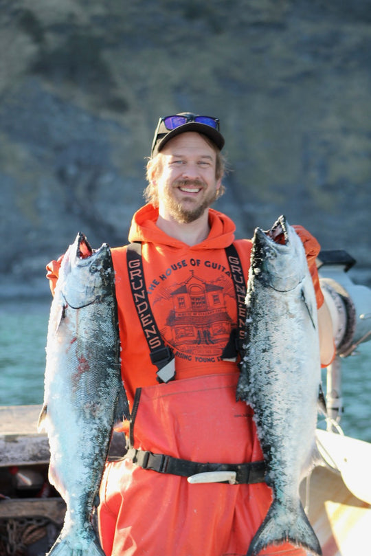 Fisherman With Salmon